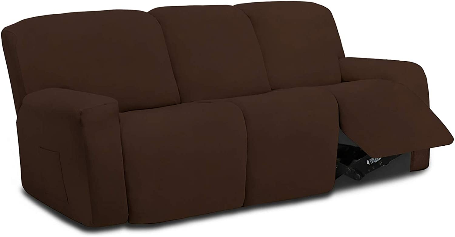 Easy-Going 8 Max 66% OFF Pieces Sale SALE% OFF Microfiber Stretch Sofa Sectional Recliner S