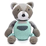 Finn + Emma Organic Cotton Knit Baby Rattle Buddy - Eli The Sloth