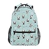 Nander Backpack Cartoon Panda Bamboo School Bookbags Laptop Travel Casual Daypack Bag for Mens Womens and Boys Girls