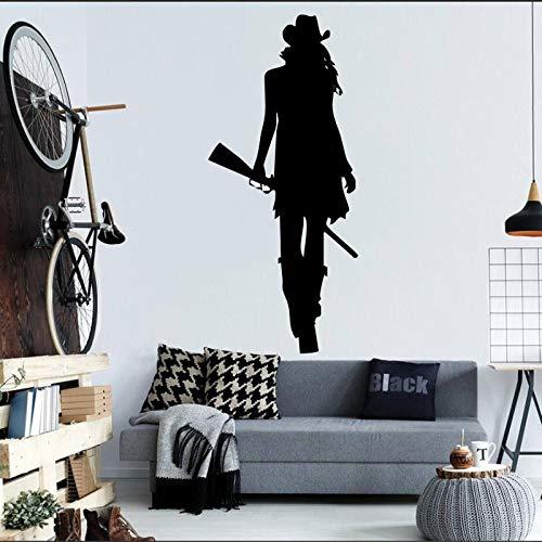 Wandmalerei hause wohnzimmer cool kreative dekorative wandtattoo aufkleber schwarz 42X84 CM