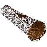 POPETPOP Katze Tunnel Spielzeug Lange Haustier Spielzeug Faltbare Tunnel Leopardenmuster
