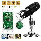 Microware WiFi Digital Microscope , 720p High Resolution Camera, Built-in 8pc LED Lights