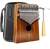 Kalimba 17 Teclas Thumb Piano Madera Maciza Finger Piano Portátil Música Instrumento Mar...