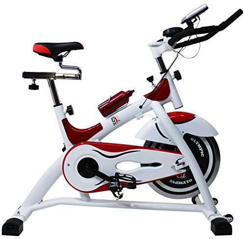 Fit4Home Olympic ES701 Indoor Cycling Bike – Nero/Rosso