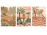 Prints Canvas Paintings Wall Art for Living Room Decor Posters for Room Aesthetic for Bedroom Aesthetic Boho Wall Decor Minimalist Wall Art 11'x15' (Palms Tree((UNFRAMED), 3 PCS(11'x15'))