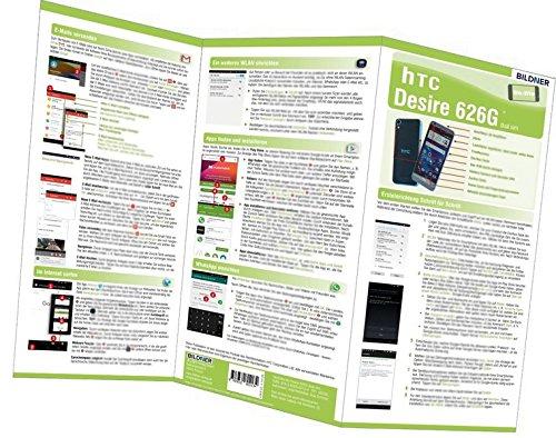 HTC Desire 626G - der leichte Einstieg: Alles auf einen Blick. Besonders für Senioren geeignet (Wo&Wie / Die schnelle Hilfe)