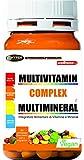 Vitamine Minerali Integratore Multivitaminico e Multiminerale 60 Compresse | Con Vitamina A C D B E Zinco Selenio Complesso di Vitamine Sistema Immunitario | Stanchezza Fatica Metabolismo Capelli