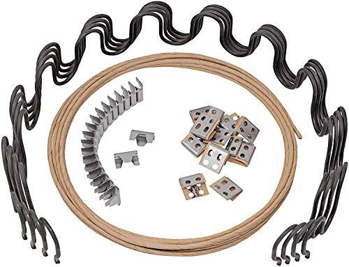 House2Home - Kit de repuesto de muelle de tapicería para sofá de 23 pulgadas, 4 muelles, clips, alambre para reparación de muebles y sillas, incluye instrucciones (idioma español no garantizado)
