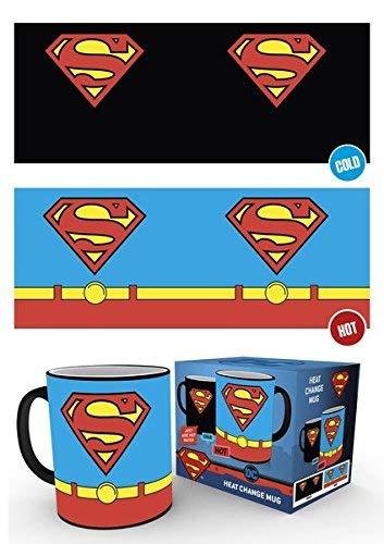 Taza de caf de cermica de DC Comics: disfraz de Superman que cambia el calor