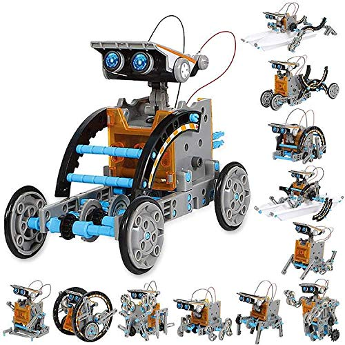 Sillbird STEM 12-in-1 Education Solar Robot Toys-190 Pieces DIY Building...