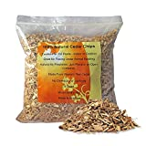 100% Natural Cedar Chips | Mulch | Great for Outdoors or Indoor Potted Plants | Dog Bedding (4 1/2 Quart)