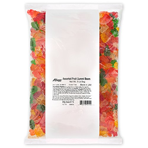 Albanese Confectionery Assorted Fruit Gummi Bears, 5 Pound Bag