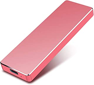 External Hard Drive, Slim External Hard Drive Portable Storage Drive Compatible with PC, Laptop and Mac(red,2TB)