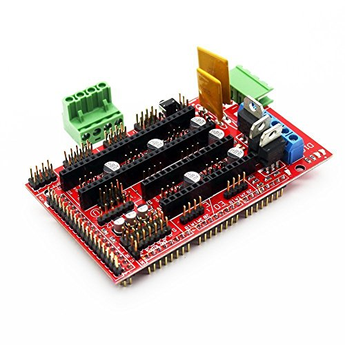 DollaTek Controlador de impresora 3D RAMPS 1.4 Mega Shield para Arduino Reprap Prusa Mendel