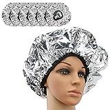 Segbeauty Conditioning Cap, 6 pzas Silver Salon Shower Cap T