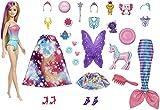 Barbie- Calendario dell'Avvento di Barbie Dreamtopia con Bambola Bionda, Vestiti da Favola, 3 Tre Cuccioli e Tanti Accessori, Giocattolo per Bambini 3+Anni, GYN36, Imballaggio Sostenibile