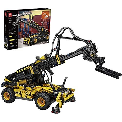 FYHCY Kit de construcción de manipulador telescópico técnico 803 Piezas, manipulador telescópico neumático Carretilla elevadora para niños y Adultos Mayores de 8 años Compatible con Lego Technic