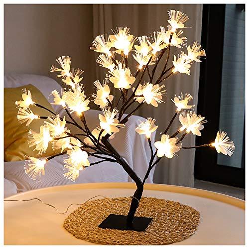 DC5V USB Powered LED Bonsai Licht Halterung Glasfaser Laterne Laterne Nachtlicht Baum Licht Startseite Hochzeit Ballsaal Weihnachten Geburtstag Party Dekoration,B-48 Lights