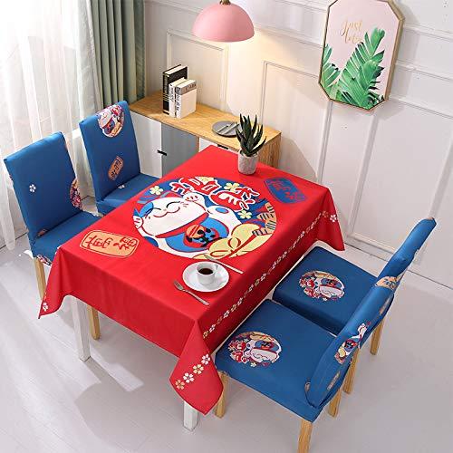 Baumwolle Tischdecken im Stil, Tischdeckenbezug Leinen Waschbar Tischdecke für,120X120cm
