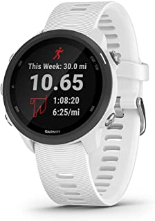 Garmin Forerunner 245 Music, GPS Running Smartwatch with Music and Advanced Dynamics, White