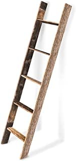 BarnwoodUSA Rustic Reclaimed Old Wooden Bookcase 5 Foot Ladder