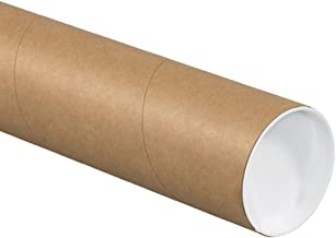 "Aviditi P3026K Mailing Tubes with Caps, 3"" x 26"", Kraft (Pack of 24)"
