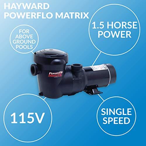 Hayward W3SP1593 PowerFlo Matrix Above-Ground Pool Pump, 1.5 HP