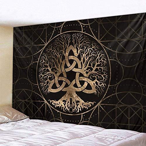 Misterio símbolo tapiz mandala escena psicodélica tapiz de pared bohemio decoración del hogar dormitorio pared fondo tela A2 130x150cm