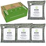 BN Bamboo Charcoal Air Purifying Bag, 4 pack Active Charcoal Odor Eliminator, House/ Boat/ RV Natural Air Purifier, Moisture Absorbers, Smoke Odor Remover, Shoe Deodorizer, Basement Humidity Absorber