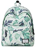 Mr Ace Homme School Backpack for Teenager Youth Children Water Resistant Daypack Fit 14 inch Laptop School Bag, 18L, Leaves