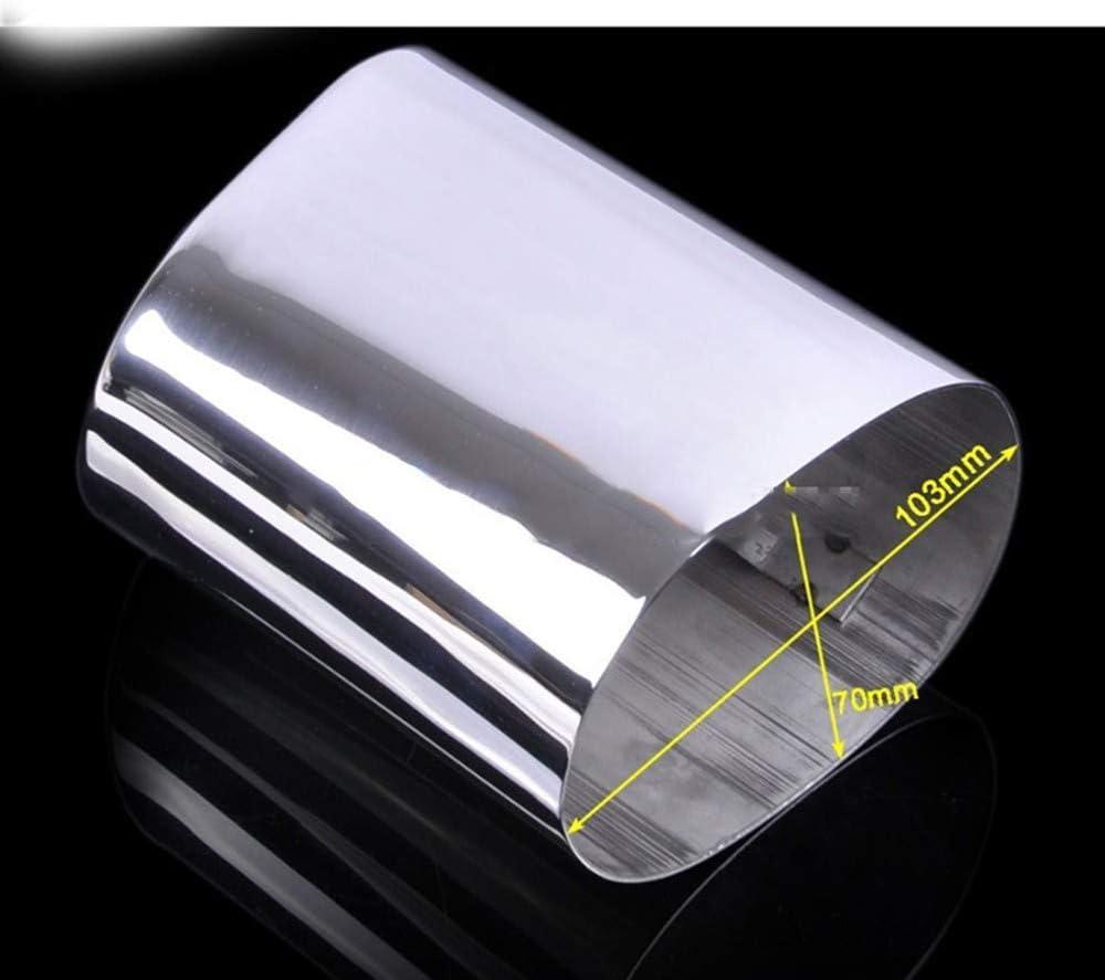clctoik stainless steel car exhaust muffler tip pipes for bmw e90 e91 e92 e93 320d 318i 318d
