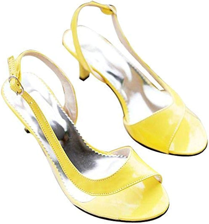 Ghapwe Fashion Womens Pump Low Heel Open Toe Sandals shoes White 8 M US