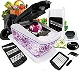 Vegetable Onion Chopper, Fun Life 13 in 1 Vegetable and Onion Choppers, Mandolin Slicer and Food Dicer, Multifunctional Cutter for Onion, Garlic, Cabbage, Carrot, Potato, Tomato, Fruit, Salad.
