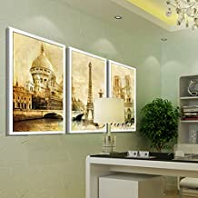 Paintsh Modern Fashion Home Paintings Murals Living Room Decorative Painting Triple Framed Paintings Bedroom Wall Painting...