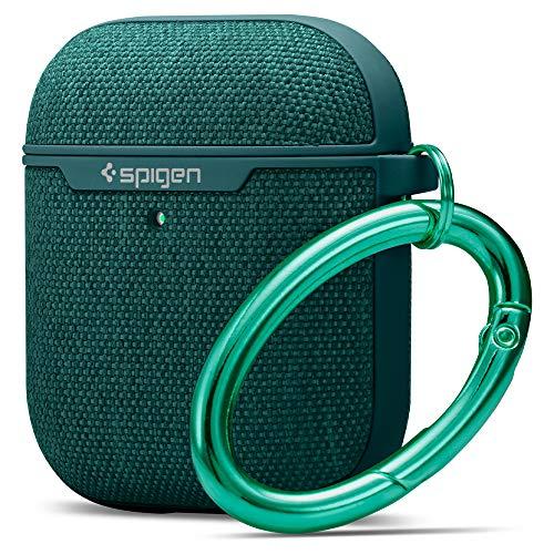 Spigen Urban Fit Progettato per Apple Airpods 1 & 2 Custodia Cover Case [LED frontale visibile] - Verde notte