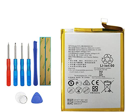 Upplus HB396693ECW Batería de repuesto compatible para Huawei Ascend Mate 8 M200-UL00 Mate 8 Mate 8 Dual SIM TD-LTE NXT-AL10 NXT-CL00 con kit de herramientas