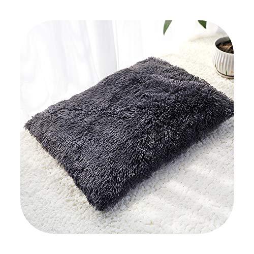 Petsupplies - Manta de felpa larga para perro, cojín de forro polar suave, cojín para cachorro, chihuahua, sofá, alfombrilla para perros pequeños y grandes, color gris oscuro
