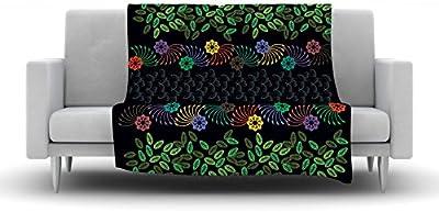 60 X 50 Kess InHouse Vasare NAR Abstract Zebra Black Lavender Fleece Throw Blanket 60 by 50-Inch