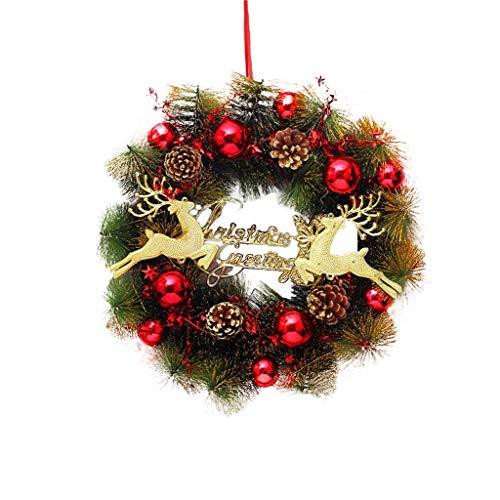 ZHongWei - Corona de Navidad Corona de Navidad, Decoraciones de Navidad, Puerta Colgando, Tapiz, un Centro Comercial, Escaparate, Colgantes, 4 Tipos Arboles de Navidad