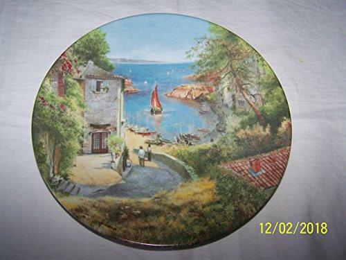 D'Arceau Limoges escena d'un puerto en Provence Paysages de France Michel Julien plato CP1815