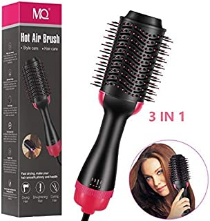 Hair Blow Dryer Brush, MQ One Step Hair Dryer and Volumizer 3 in 1 Hot Air Brush Multifunctional Hair Dryer Straighten Curly Volumizer Comb Brush Professional Negative Ion Salon for All Hair Types