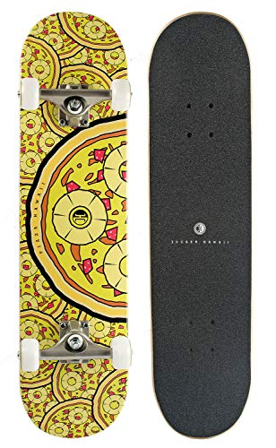 JUCKER HAWAII Skateboard Perky Pizzas 7.75
