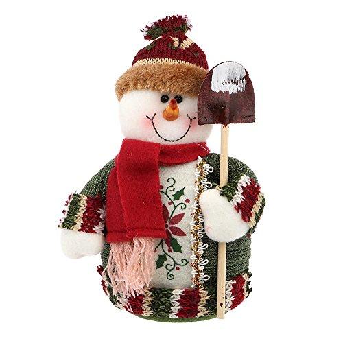 VANKER Charmant Poupée de Noël Debout Bonhomme de neige pour Cadeau Décoration