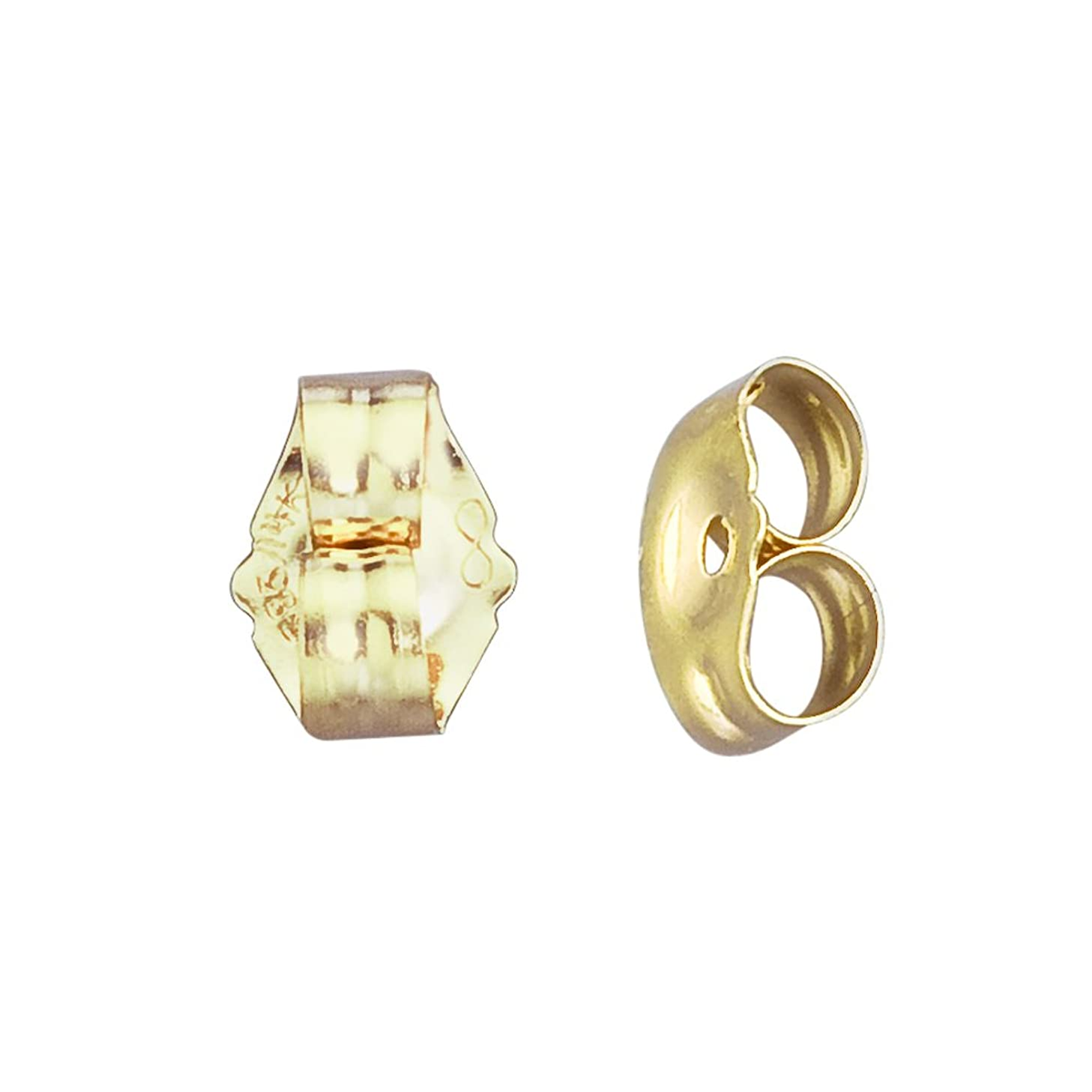 14k Gold Small Replacement Earring Backs Pair