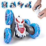 RC Stunt Car,2.4GHz Rechargeable Remote Control Double Sided Rotating 360° Flips Vehicles, Drift High-Speed Off-Road Stunt Truck Toys for 3 4 5 6-12-Year-Old Boy Toys Christmas Birthday Gifts