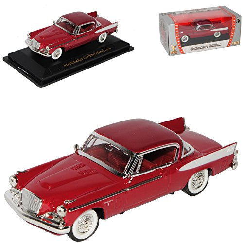 Studebaker Golden Hawk Coupe Rot 1958 Oldtimer 1/43 Yatming Modell Auto