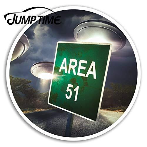 BLOUR Sprungzeit für Bereich 51 Vinyl Aufkleber Aliens UFO Coole Aufkleber Laptop Gepäck Wasserdichtes Zubehör Autoscooter Aufkleber