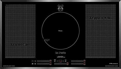 Kaiser KCT 95 La perle plaque induction 90 cm/ Free Zone de Cuisson à Induction/ autosuffisants/4 zones + Cercle/Plaque de cuisson/plaque électrique encastrable/Verre noir, facette/Lux fabricant/
