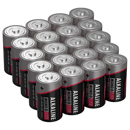 ANSMANN Batterien Mono D LR20 20 Stück 1,5V - Alkaline Batterie langlebig & auslaufsicher - Ideal für Spielzeug, LED Taschenlampe, Radio, Modellbau uvm