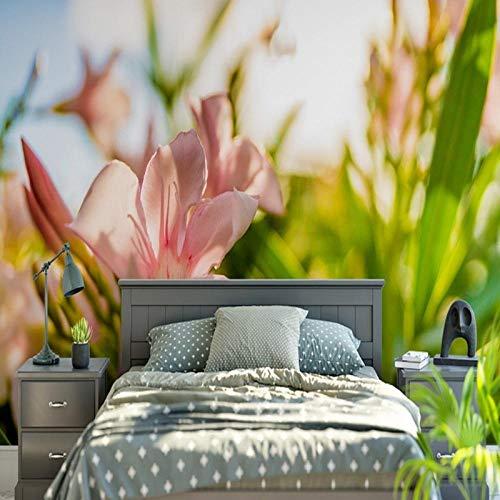 Preisvergleich Produktbild ZGHNZK Benutzerdefinierte Blumentapete Krokus rosa Blume Pflanzenlandschaft Wandbild Tapete Schlafzimmer Tapete Hauptdekoration-200X140CM